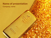 Financial/Accounting: Gold PowerPoint Template #01675