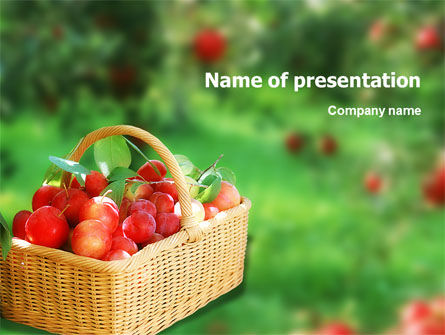 Food & Beverage: Plantilla de PowerPoint - jardín #01676