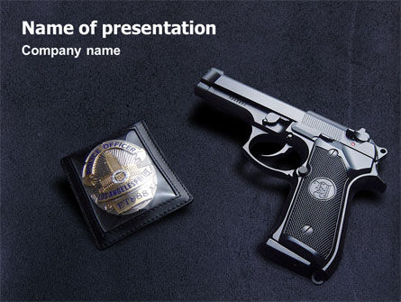 Legal: Police PowerPoint Template #01677