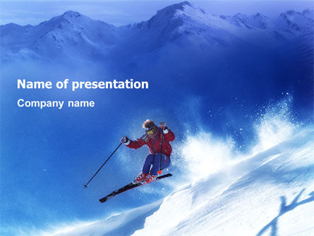 Skiing PowerPoint Template, 01678, Sports — PoweredTemplate.com