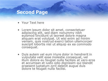 Skiing PowerPoint Template, Slide 2, 01678, Sports — PoweredTemplate.com