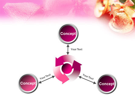 Christmas Bells On A Pink Background PowerPoint Template Slide 12