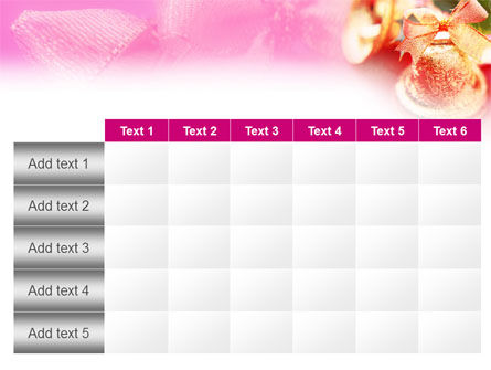Christmas Bells On A Pink Background PowerPoint Template Slide 15