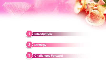 Christmas Bells On A Pink Background PowerPoint Template Slide 3