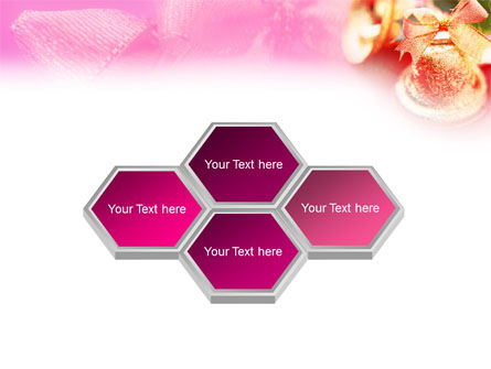 Christmas Bells On A Pink Background PowerPoint Template Slide 5