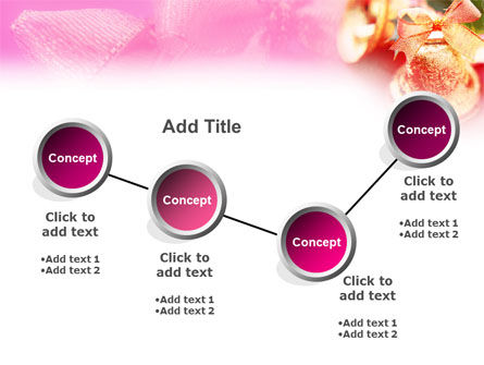 Christmas Bells On A Pink Background PowerPoint Template Slide 6