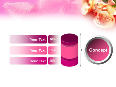 Christmas Bells On A Pink Background PowerPoint Template Slide 8