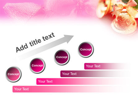 Christmas Bells On A Pink Background PowerPoint Template Slide 9