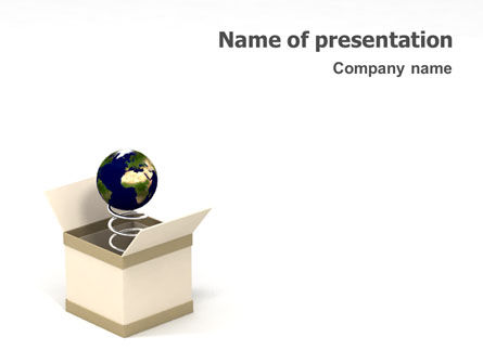 Discover World PowerPoint Template, 01680, 3D — PoweredTemplate.com