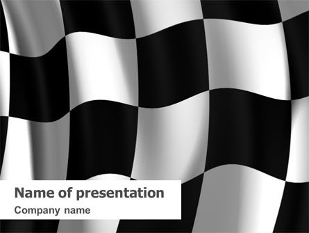 Signal Flag PowerPoint Template, 01682, 3D — PoweredTemplate.com