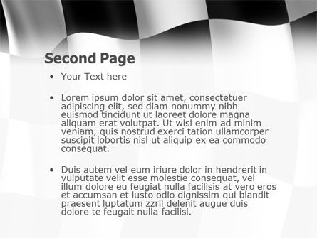 Signal Flag PowerPoint Template, Slide 2, 01682, 3D — PoweredTemplate.com