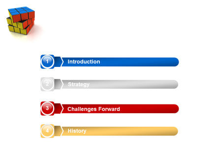 Rubik's Cube PowerPoint Template, Slide 3, 01683, 3D — PoweredTemplate.com