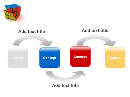Rubik's Cube PowerPoint Template, Slide 4, 01683, 3D — PoweredTemplate.com