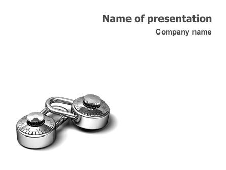 3D: Numbered Locks PowerPoint Template #01684