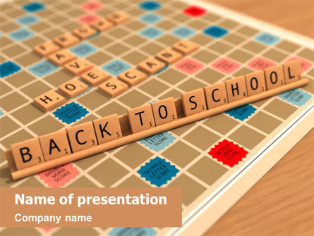 Scrabble PowerPoint Template, 01686, 3D — PoweredTemplate.com
