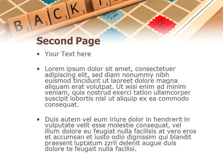 Scrabble PowerPoint Template, Slide 2, 01686, 3D — PoweredTemplate.com