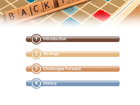 Scrabble PowerPoint Template, Slide 3, 01686, 3D — PoweredTemplate.com