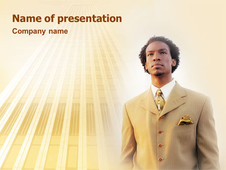 Business: Career Of Afro-Americans PowerPoint Template #01688