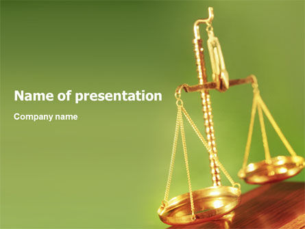 Legal: Justice Scales PowerPoint Template #01689