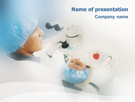Medical: Electronic Microscope PowerPoint Template #01690