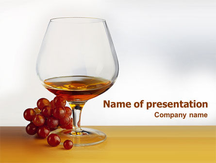 Food & Beverage: Brandy PowerPoint Template #01692