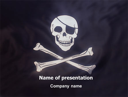 Flags/International: Pirates Flag PowerPoint Template #01693