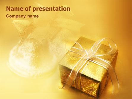Holiday/Special Occasion: A Gift For Christmas PowerPoint Template #01694