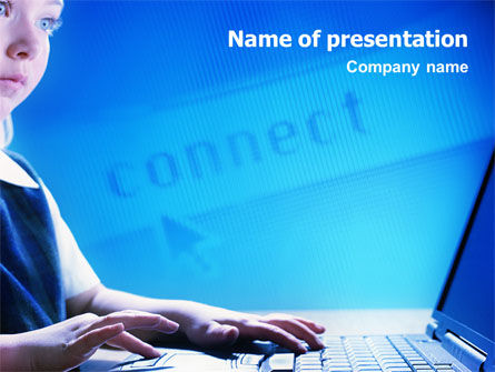 Computer and Kid PowerPoint Template