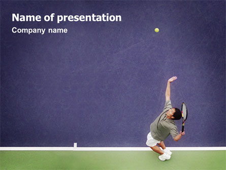 Sports: Tennis PowerPoint Template #01697