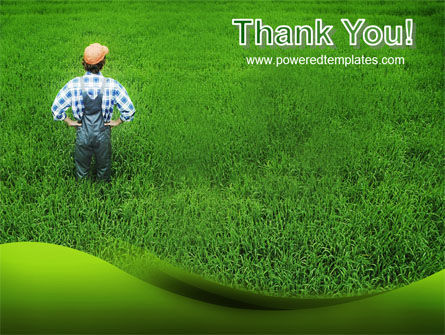 Farmer On The Green Field PowerPoint Template Slide 20