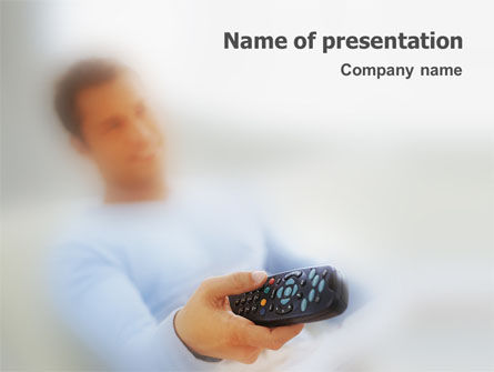 Technology and Science: Telecontrol PowerPoint Template #01699
