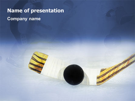 Hockey PowerPoint Template, 01700, Sports — PoweredTemplate.com