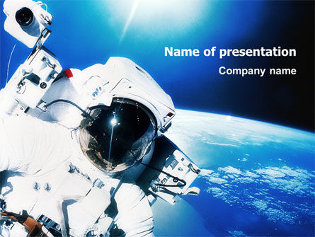 Astronaut PowerPoint Template, 01702, Careers/Industry — PoweredTemplate.com