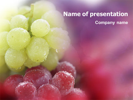 Food & Beverage: White And Red Grapes PowerPoint Template #01705