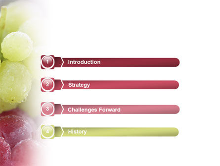 White And Red Grapes PowerPoint Template Slide 3