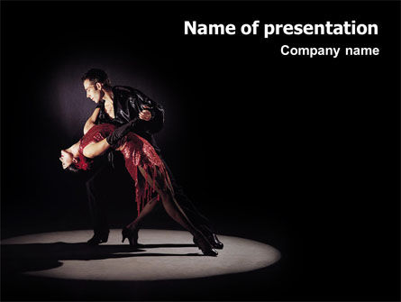 Dance PowerPoint Template, 01709, Art & Entertainment — PoweredTemplate.com
