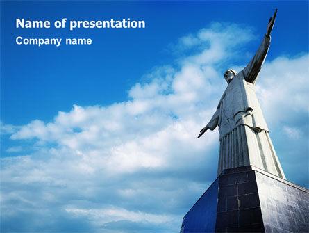 Flags/International: 里约热内卢PowerPoint模板 #01710