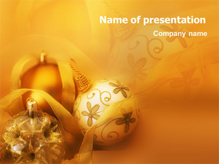 Christmas Tree Decorations PowerPoint Template, 01714, Holiday/Special Occasion — PoweredTemplate.com