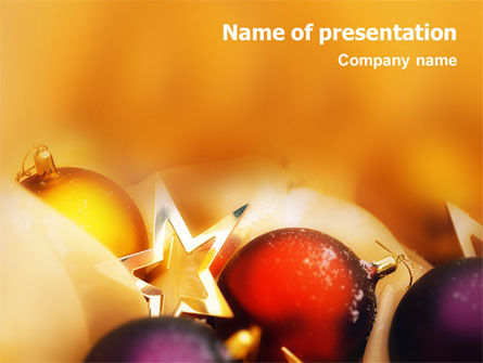 New Year Decorations PowerPoint Template, 01715, Holiday/Special Occasion — PoweredTemplate.com