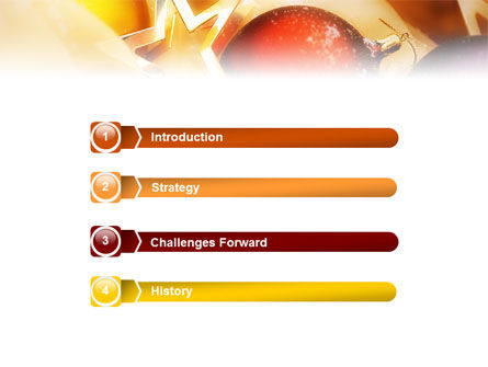 New Year Decorations PowerPoint Template Slide 3