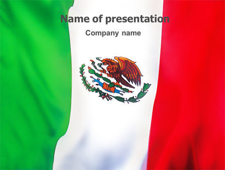 Mexican Flag PowerPoint Template, 01716, Flags/International — PoweredTemplate.com