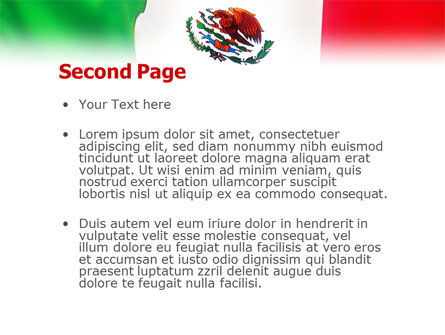 Mexican Flag PowerPoint Template, Slide 2, 01716, Flags/International — PoweredTemplate.com