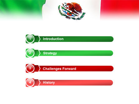 Mexican Flag PowerPoint Template, Slide 3, 01716, Flags/International — PoweredTemplate.com