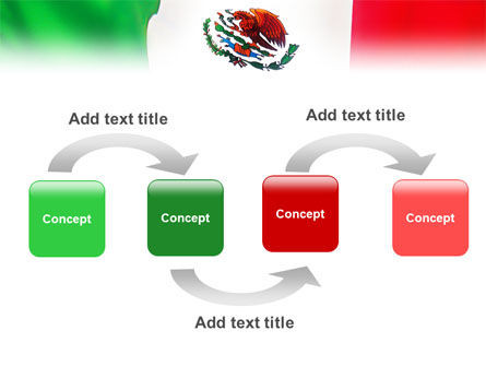 Mexican Flag PowerPoint Template, Slide 4, 01716, Flags/International — PoweredTemplate.com