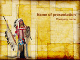 America: American Indian PowerPoint Template #01718