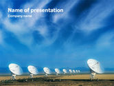 Telecommunication: listening To Sky PowerPoint Template #01719