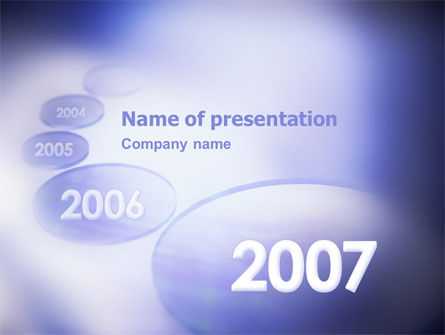 Business Concepts: Year 2007 PowerPoint Template #01723