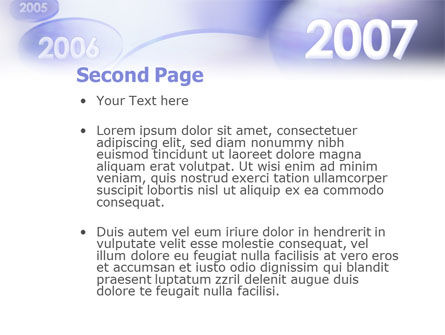 Year 2007 PowerPoint Template Slide 2