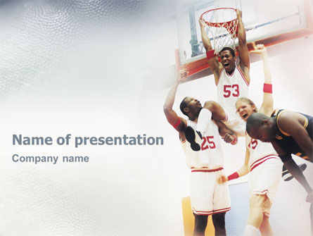 Sports: Basketball Game PowerPoint Template #01724