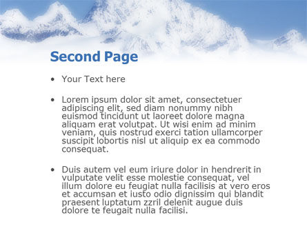 Skiing in Alps PowerPoint Template, Slide 2, 01726, Sports — PoweredTemplate.com